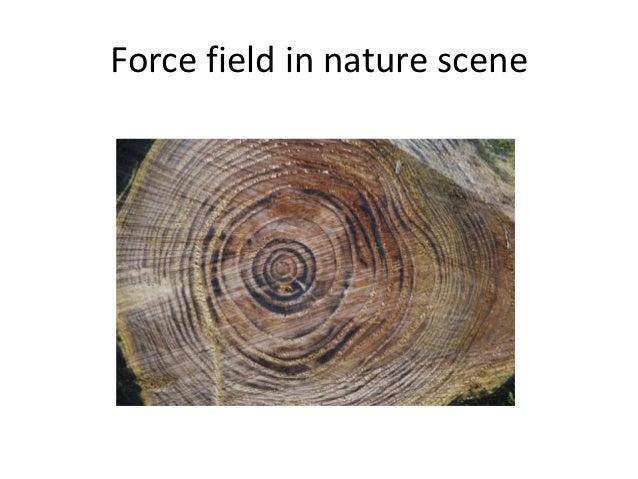 Force field in nature scene