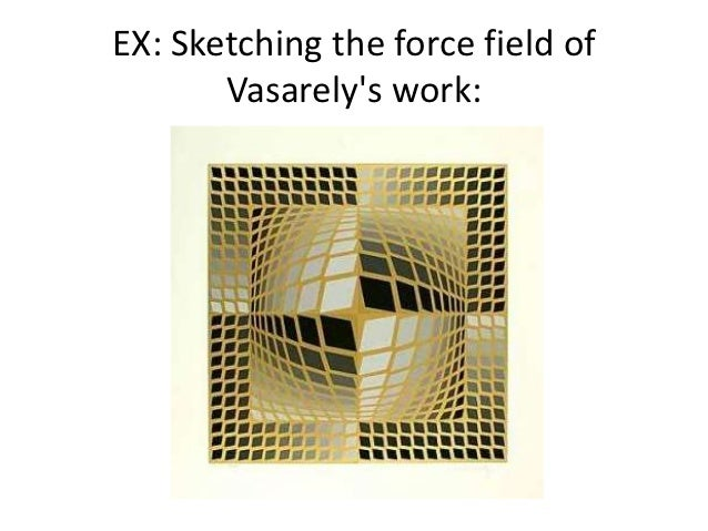 EX: Sketching the force field of       Vasarelys work: