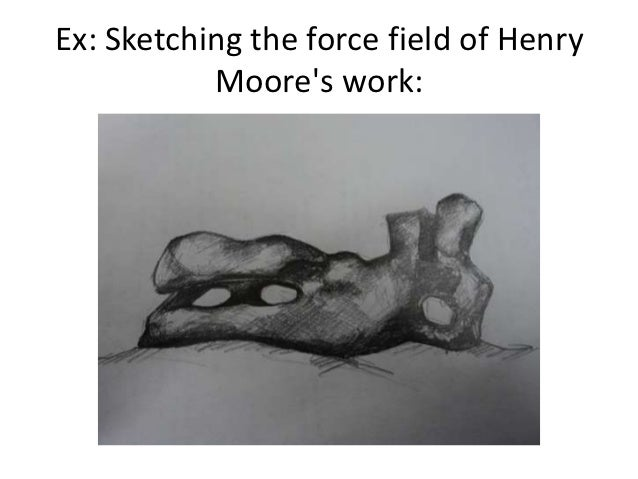 Ex: Sketching the force field of Henry           Moores work: