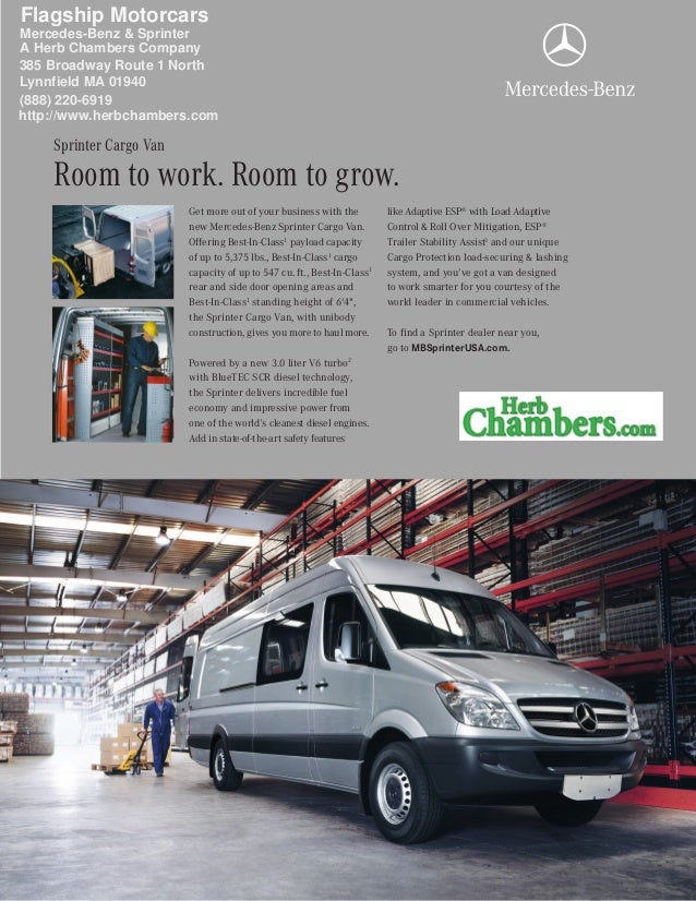 9f7894a5bb Get more out of your business with the new Mercedes-Benz Sprinter Cargo Van.