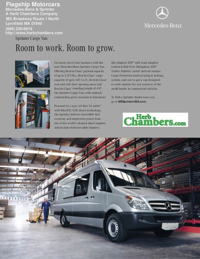 Get more out of your business with the new Mercedes-Benz Sprinter Cargo Van. Offering Best-In-Class1 payload capacity of u...