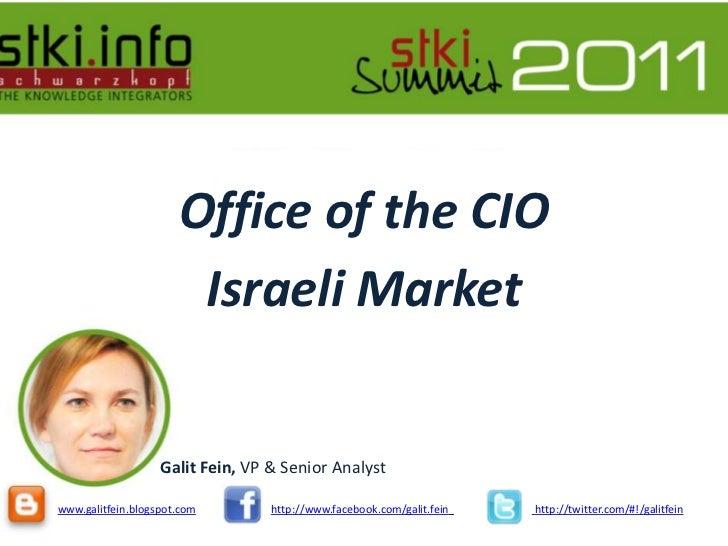 2011 summit office of the cio presentation galit