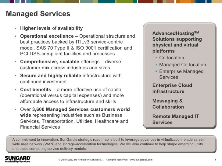 Managed Services   Higher levels of availability                                                                         ...