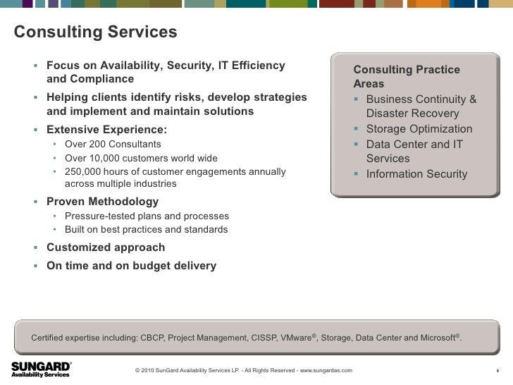 Consulting Services   Focus on Availability, Security, IT Efficiency                                                     ...