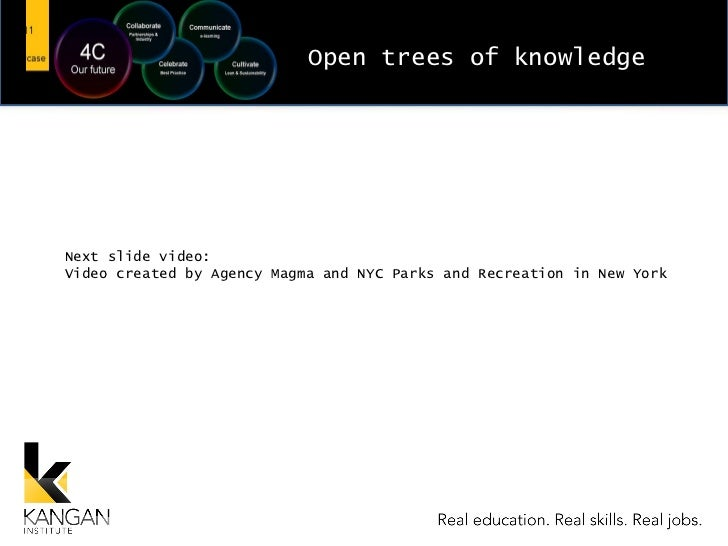 Open trees of knowledge Next slide video: Video created by Agency Magma and NYC Parks and Recreation in New York