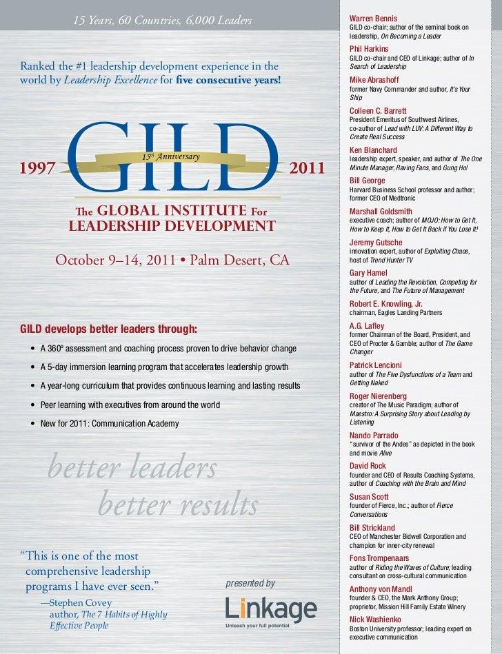 15 Years, 60 Countries, 6,000 Leaders                                 Warren Bennis                                       ...
