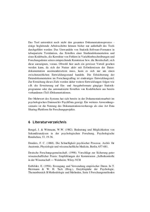Dehnhard, I., Weiland, P. (2011, März). Toolbasierte Datendokumentati…