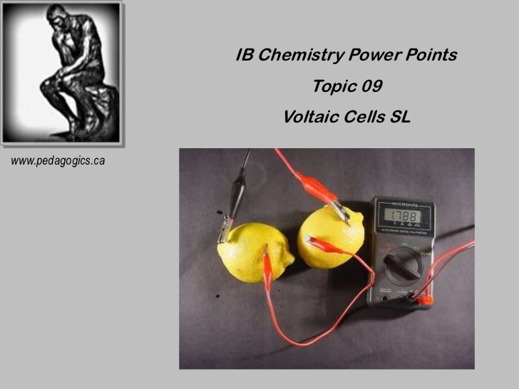 IB Chemistry Power Points                            Topic 09                         Voltaic Cells SLwww.pedagogics.ca