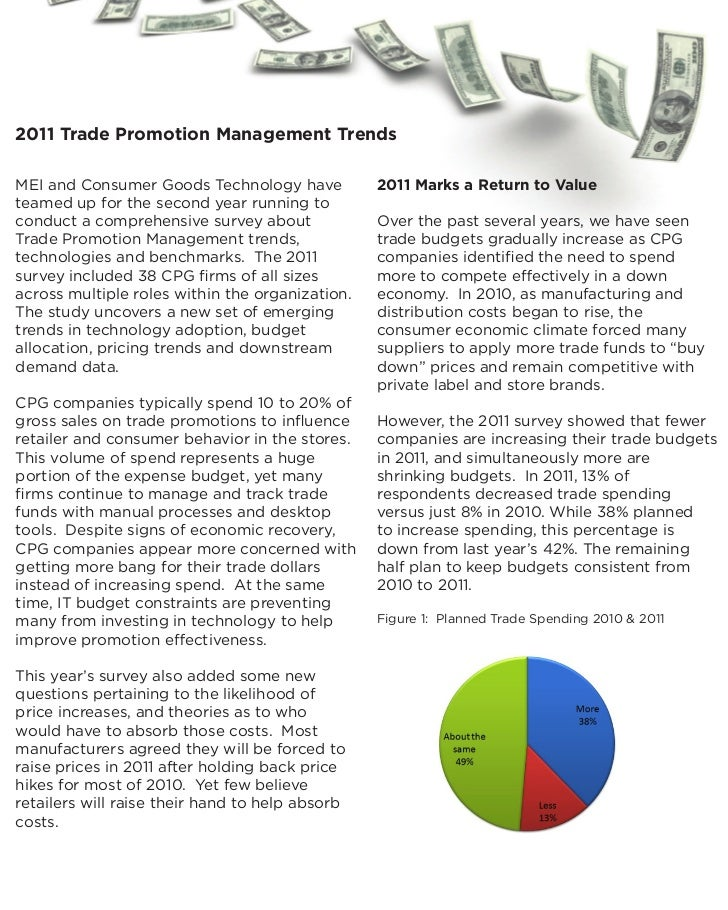 2011 Trade Promotion Management TrendsMEI and Consumer Goods Technology have           2011 Marks a Return to Valueteamed ...