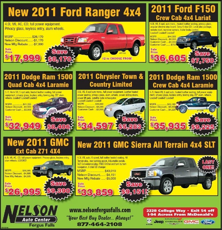 2011 Trucks Sale Special MN | Ford Dodge GMC Dealer near Fargo
