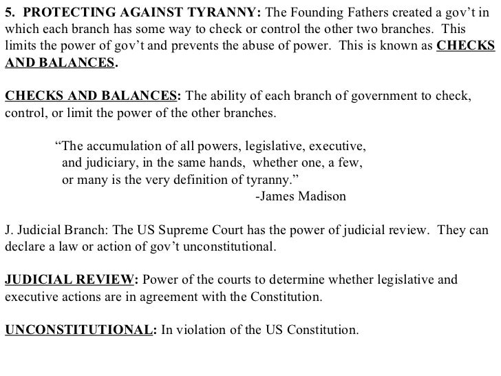 how does the constitution guard against tyranny dbq