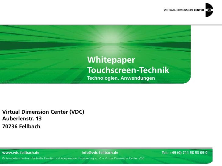Whitepaper                                                             Touchscreen-Technik                                ...