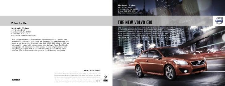 2011 McKevitt Volvo C30 San Leandro CA
