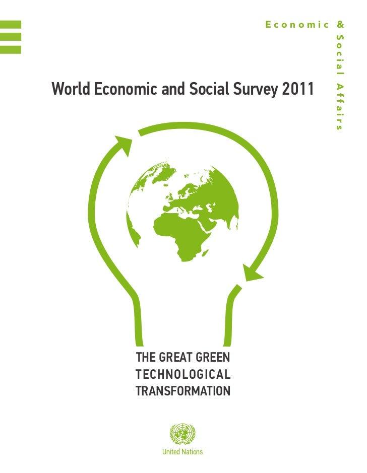 Economic &                                        Social AffairsWorld Economic and Social Survey 2011           ThE GrEaT ...