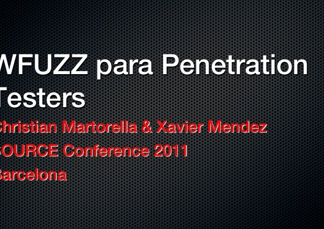 Wfuzz for Penetration Testers