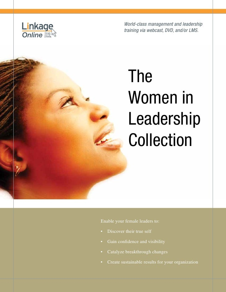 World-class management and leadership            training via webcast, DVD, and/or LMS.              The              Wome...