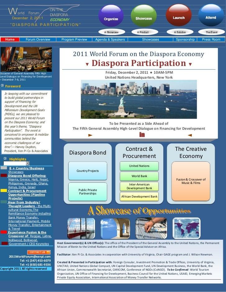 World            Forum                                         ON THE                                         DIASPORA    ...