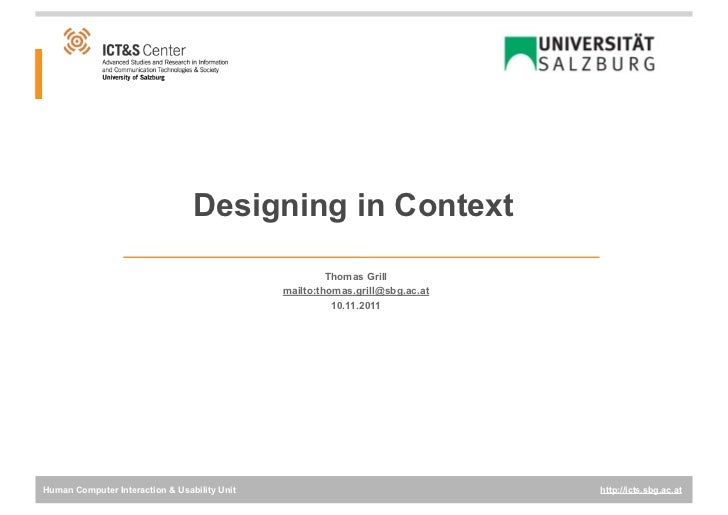Designing in Context                                                       Thomas Grill                                   ...