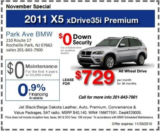 Park Ave Auto >> 2011 X5 Xdrive35i Premium Lease Park Ave Bmw Rochelle Park Nj
