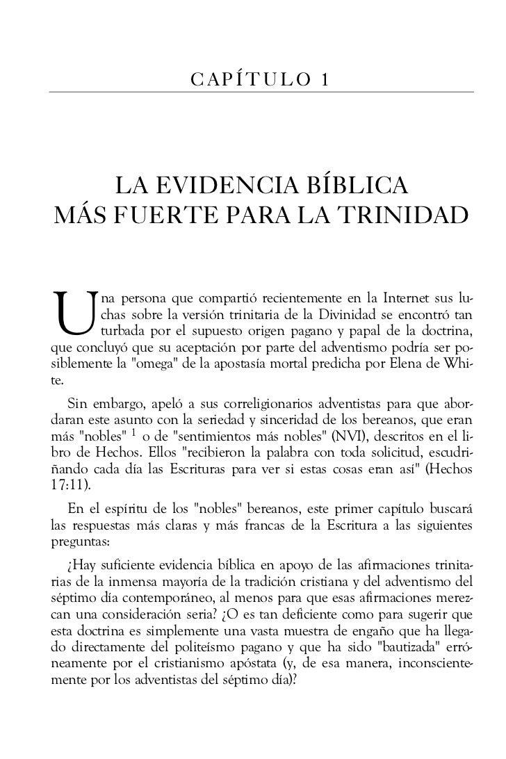 CAPÍTULO 1    LA EVIDENCIA BÍBLICAMÁS FUERTE PARA LA TRINIDADU       na persona que compartió recientemente en la Internet...