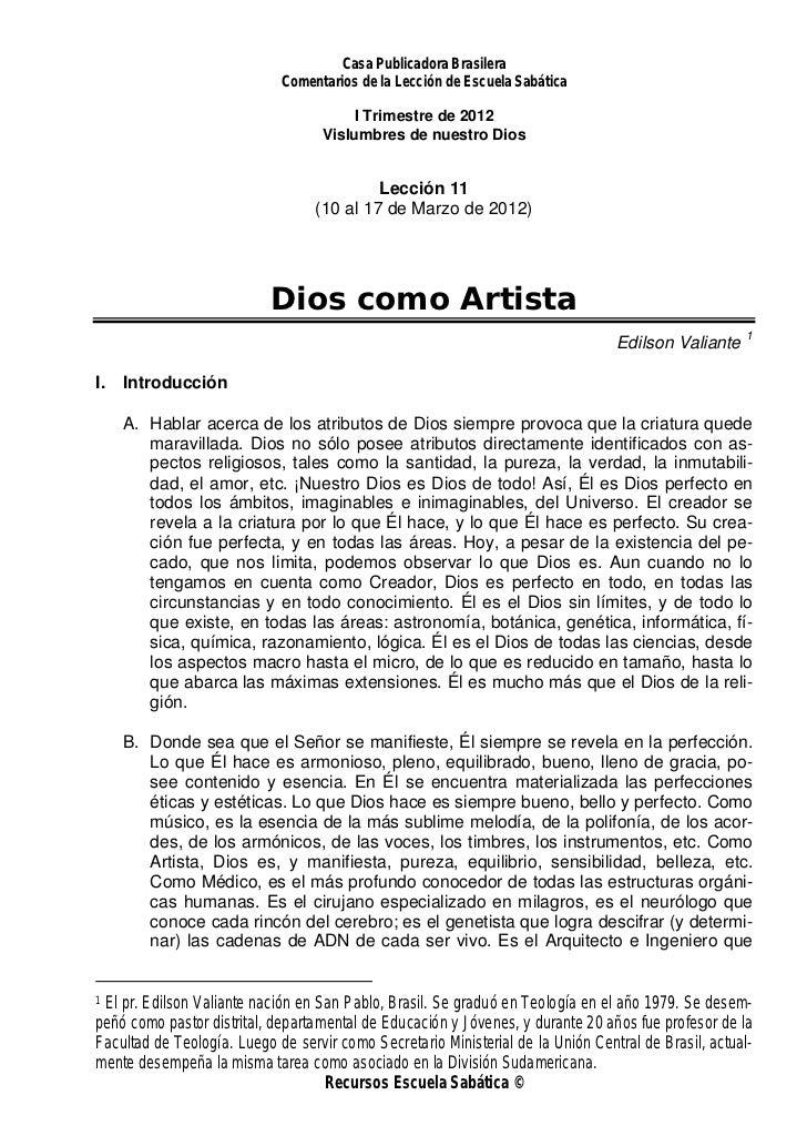 Casa Publicadora Brasilera                             Comentarios de la Lección de Escuela Sabática                      ...
