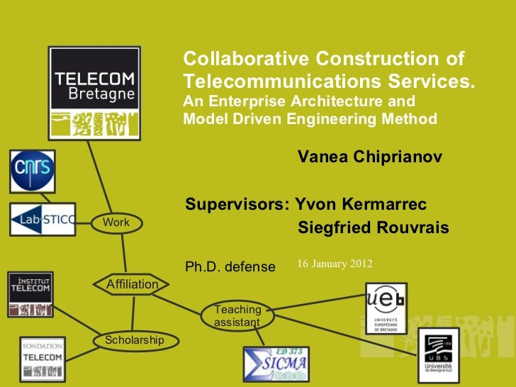 Collaborative Construction of              Telecommunications Services.              An Enterprise Architecture and       ...