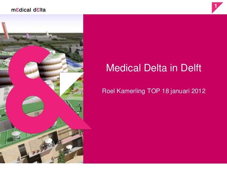 1 Medical Delta in DelftRoel Kamerling TOP 18 januari 2012