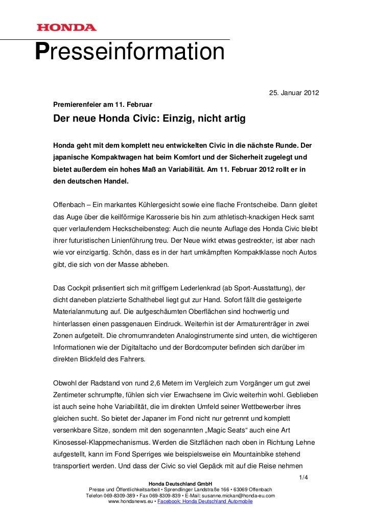 Presseinformation                                                                                          25. Januar 2012...