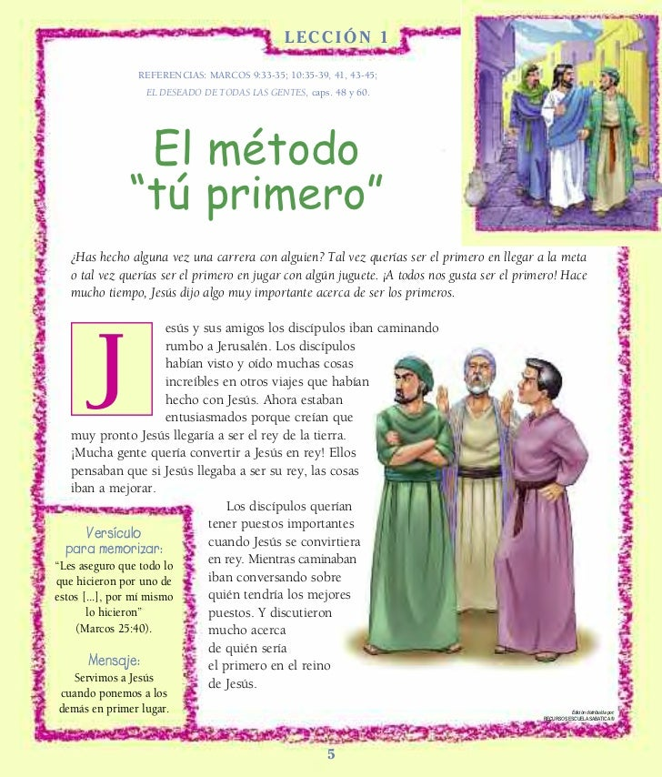 LL E S S ON 1 ?                                              ECCIÓN ?               REFERENCIAS: MARCOS 9:33-35; 10:35-39,...