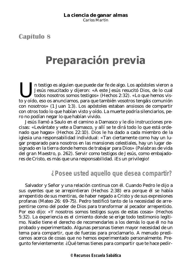 La ciencia de ganar almas                                Carlos MartínCapítulo 8             Preparación previaU        n ...