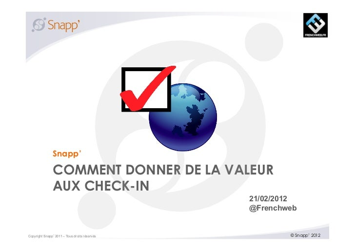 Snapp'               COMMENT DONNER DE LA VALEUR               AUX CHECK-IN                                              2...
