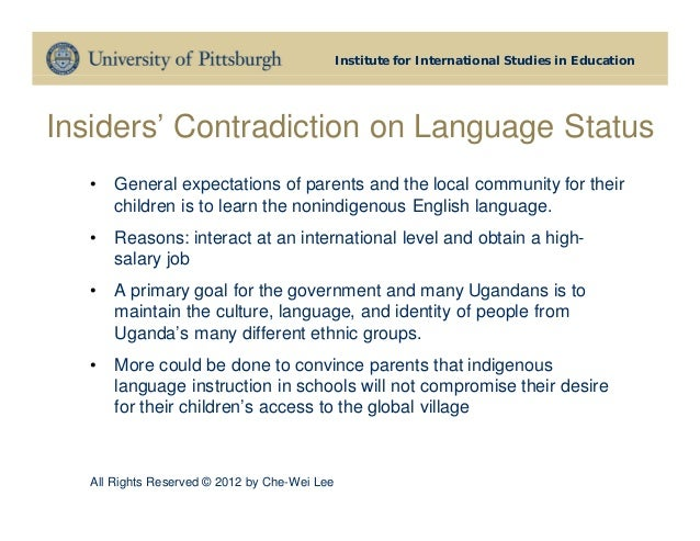 language and identity in education Contents of published issues volume 1, no 1 (2002) (view this issue free on-line) editor's introduction: language, identity, and education and the challenges of monoculturalism and globalization.