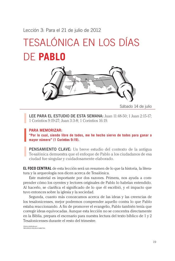 Lección 3: Para el 21 de julio de 2012TEsALÓNICA EN LOs DÍAsDE PABLO                                                      ...