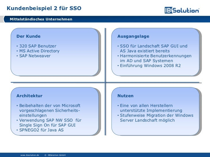Sap netweaver single sign-on kosten
