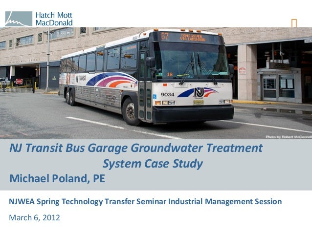 New Jersey Transit Bus Garage Groundwater Treatment System