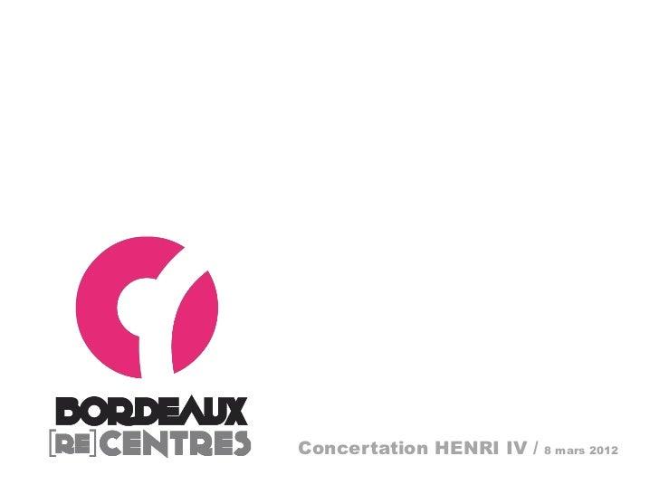 Concertation HENRI IV /   8 mars 2012