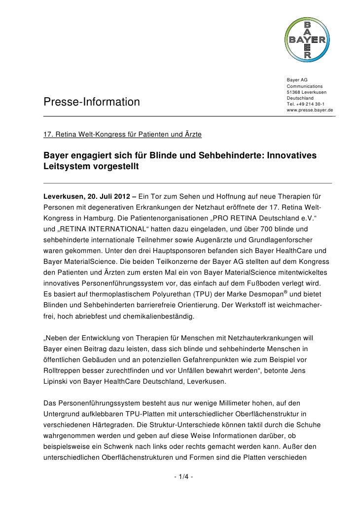 Bayer AG                                                                        Communications                            ...