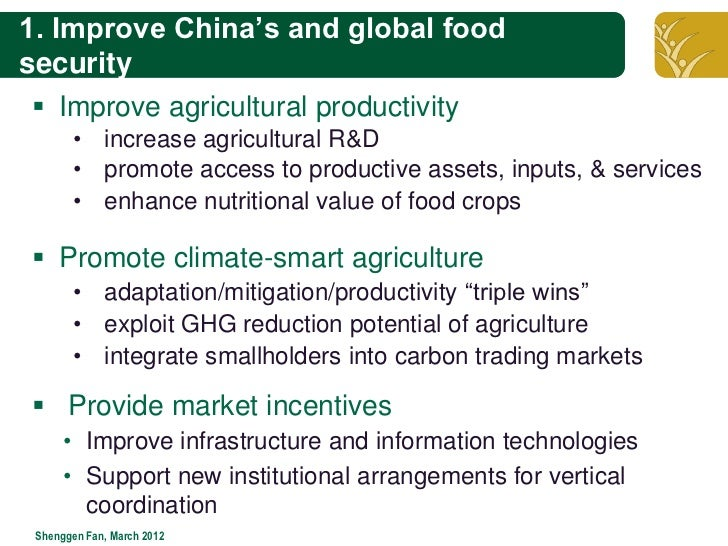 Market Smart Adaptation To Food Security
