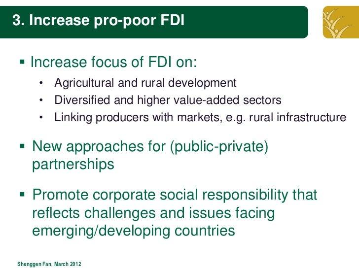 The role of fdi in africa