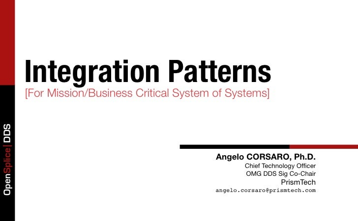 Integration Patterns                 [For Mission/Business Critical System of Systems]OpenSplice DDS                      ...