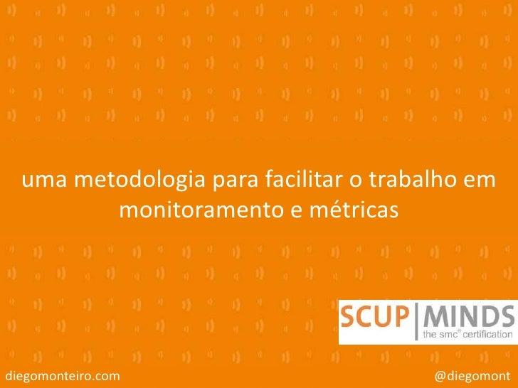 uma metodologia para facilitar o trabalho em         monitoramento e métricasdiegomonteiro.com                       @dieg...