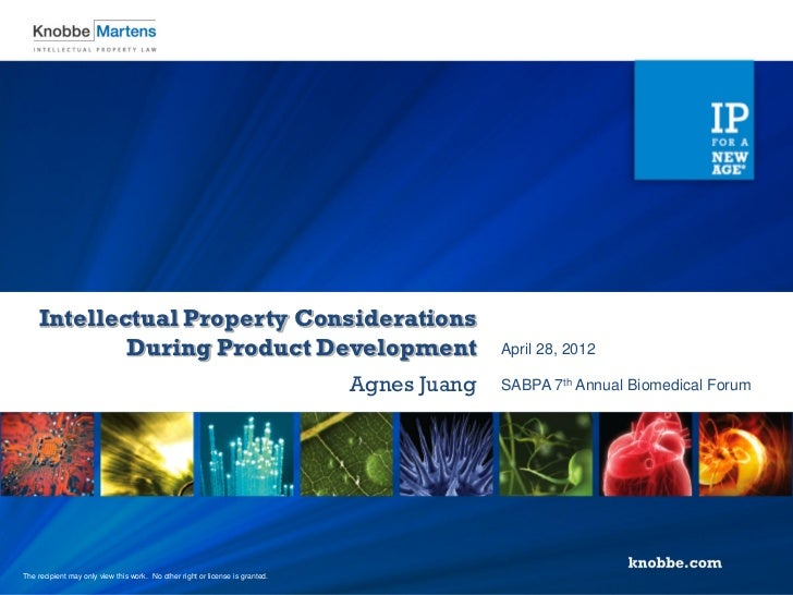 Intellectual Property Considerations            During Product Development                                                ...