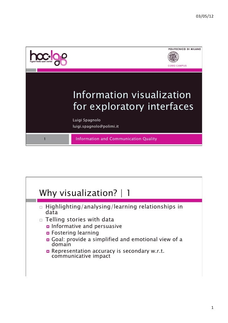 """!""""#!$#%&                                                            COMO CAMPUS                   Information visualizatio..."""