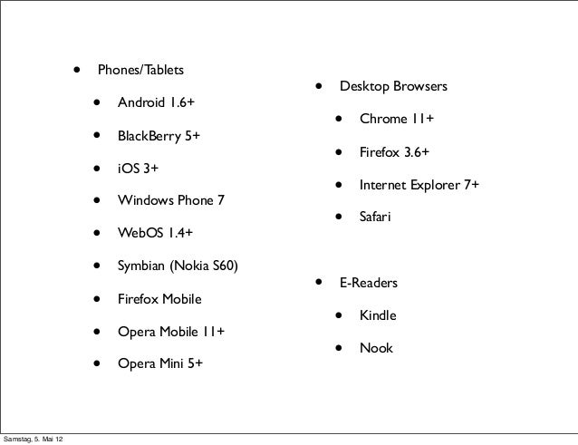 Mobile Websites und (Web)-Apps mit jQuery Mobile
