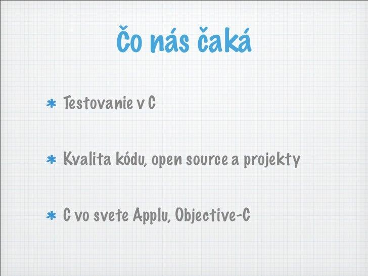 Ať se z kódu nepráší! Slide 3