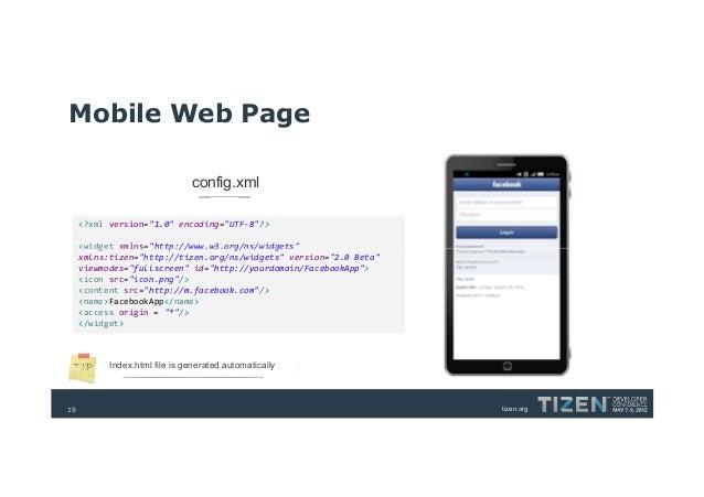 Convert Your Web App to Tizen