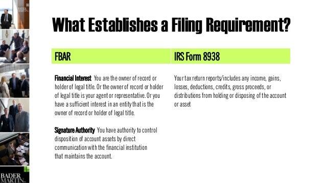 90 221 Fbar Vs Form 8938 Reporting Comparison
