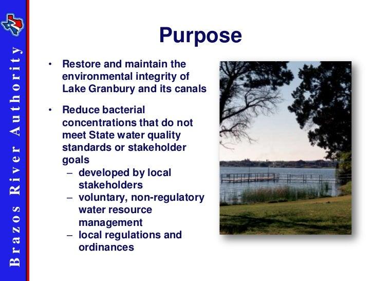 Lake Granbury Watershed Protection Plan