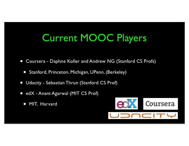 Massively Open Online Courses (MOOCs) Slide 2