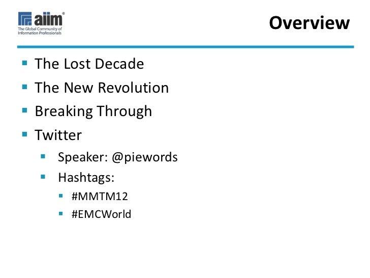 A Brave New World for Information Management Slide 2